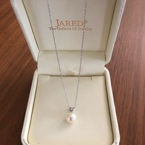 Jared Cultured Pearl - 1/20 Carat Diamond 14k gold